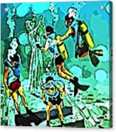 Spiritual Experience Of Scuba Diving Acrylic Print