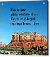 Spiritual Laws Acrylic Print