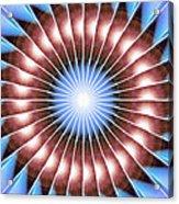 Spiritual Pulsar Kaleidoscope Acrylic Print by Derek Gedney