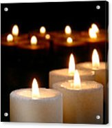 Spiritual Reflection Candles Acrylic Print