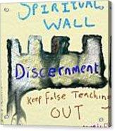 Spiritual Wall Acrylic Print