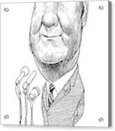 Spiro Agnew Caricature Acrylic Print