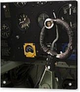 Spitfire Cockpit Acrylic Print by Adam Romanowicz