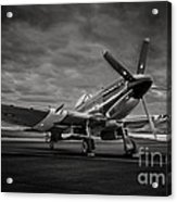 Spitfire In Black And White Acrylic Print