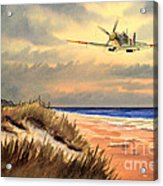 Spitfire Mk9 - Over South Coast England Acrylic Print