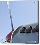 Spitfire Propeller And Exhaust Acrylic Print