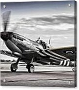 Spitfire Warming Up For D Day Acrylic Print