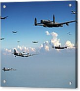 Spitfires Escorting Lancasters Acrylic Print
