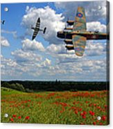Spitfires Lancaster And Poppy Field Acrylic Print