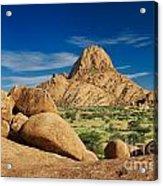 Spitzkoppe Mountain Landscape Of Granite Rocks Namibia Acrylic Print