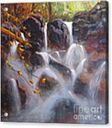 Splash And Trickle Acrylic Print