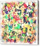 Splashing Paints Acrylic Print