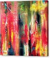Splatter And Blur Acrylic Print