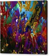 Splatter Acrylic Print by Doris Wood