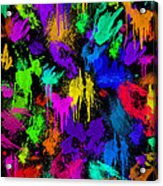 Splattered One Acrylic Print
