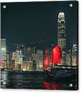 Splendid Asian City, Hong Kong Acrylic Print