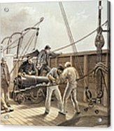 Splicing The Trans-atlantic Telegraph Cable After The First Accident On Board The Great Eastern Acrylic Print