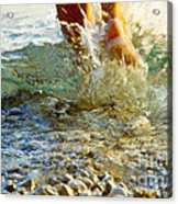 Splish Splash Acrylic Print by Heiko Koehrer-Wagner