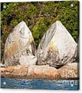 Split Apple Rock Near Abel Tasman Np In New Zealand Acrylic Print
