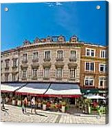 Split Historic Square Panoramic View Acrylic Print