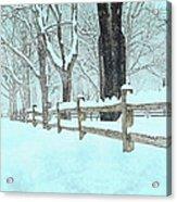 Split Rail Blues Acrylic Print