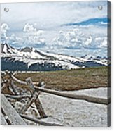 Split Rail Fence Near Alpine Visitor's Center In Rocky Mountain Np-co Acrylic Print