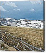 Split Rail Fence On East Side Of Trail Ridge Road In Rocky Mountain National Park-colorado Acrylic Print