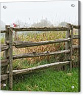 Split-rail Fence - Vertical Acrylic Print