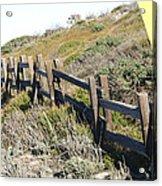 Split Rail Fence Yellow Acrylic Print by Barbara Snyder