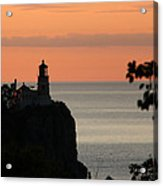 Split Rock Lighthouse At Sunrise Acrylic Print