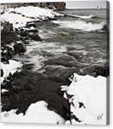 Split Rock Lighthouse Winter 17 Acrylic Print