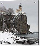Split Rock Lighthouse Winter 19 Acrylic Print
