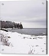 Split Rock Lighthouse Winter 7 Acrylic Print