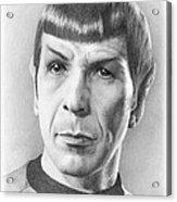 Spock - Fascinating Acrylic Print by Liz Molnar