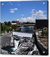 Spokane Falls And Riverfront Acrylic Print