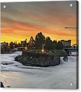 Spokane Sunrise Acrylic Print by Michael Gass