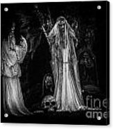 Spookie Ladies Vinette Black And White Acrylic Print