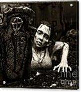Zombie Lady Sepia Acrylic Print