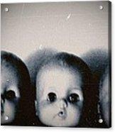 Spooky Doll Heads Acrylic Print