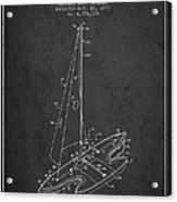 Sport Sailboat Patent From 1977 - Dark Acrylic Print