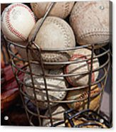 Sports - Baseballs And Softballs Acrylic Print