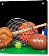 Sports Equipment Acrylic Print by Joe Belanger