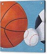 Sports Line Up Acrylic Print