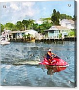 Sports - Man On Jet Ski Acrylic Print