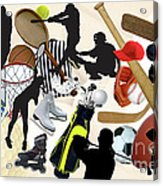 Sports Sports Sports Acrylic Print by Susan  Lipschutz