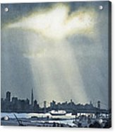 Spotlight On The Bay Acrylic Print