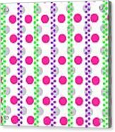 Spotty Stripe Acrylic Print