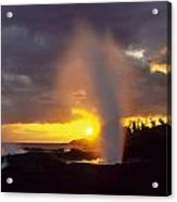 Spouting Horn At Sunset Acrylic Print