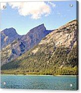 Spray Lake Mountains Acrylic Print