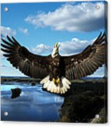 Spread Eagle  Mississippi River Acrylic Print